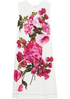 Dolce & Gabbana Woman Floral-print Silk-blend Mini Dress White