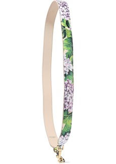 Dolce & Gabbana Woman Floral-print Textured-leather Bag Strap Multicolor