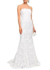 Dolce & Gabbana Woman Fluted Cotton-blend Corded Lace Gown White