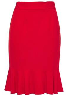 Dolce & Gabbana Woman Fluted Stretch-crepe Skirt Red
