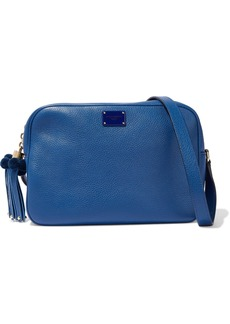 Dolce & Gabbana Woman Glam Embellished Pebbled-leather Shoulder Bag Cobalt Blue