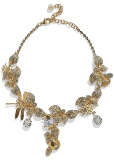 Dolce & Gabbana Woman Gold-tone Faux Pearl And Crystal Necklace Gold