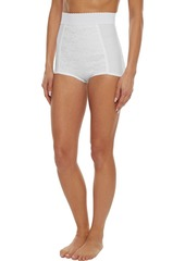 Dolce & Gabbana Woman Lace-paneled Stretch-mesh High-rise Briefs White