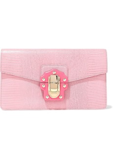 Dolce & Gabbana Woman Lizard-effect Leather Clutch Baby Pink
