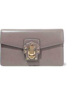 Dolce & Gabbana Woman Lucia Leather Clutch Taupe