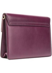 Dolce & Gabbana Woman Lucia Leather Shoulder Bag Plum