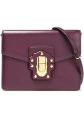 Dolce & Gabbana Woman Lucia Leather Shoulder Bag Plum