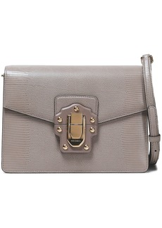 Dolce & Gabbana Woman Lucia Lizard-effect Leather Shoulder Bag Taupe
