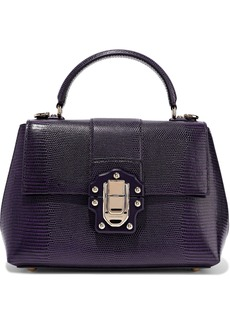 Dolce & Gabbana Woman Lucia Lizard-effect Leather Tote Violet