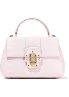 Dolce & Gabbana Woman Lucia Lizard-effect Leather Tote Baby Pink