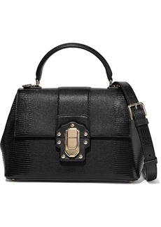 Dolce & Gabbana Woman Lucia Lizard-effect Leather Shoulder Bag Black
