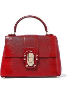 Dolce & Gabbana Woman Lucia Lizard-effect Leather Shoulder Bag Red