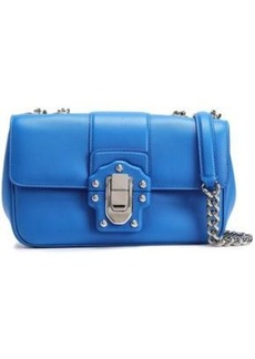 Dolce & Gabbana Woman Lucia Mini Leather Shoulder Bag Azure