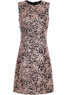 Dolce & Gabbana Woman Metallic Brocade Mini Dress Rose Gold