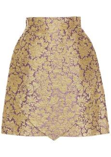Dolce & Gabbana Woman Metallic Brocade Skirt Lilac