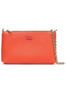 Dolce & Gabbana Woman Pebbled-leather Clutch Bright Orange