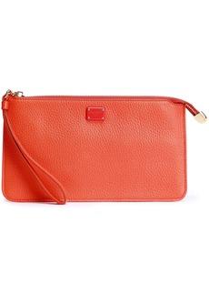 Dolce & Gabbana Woman Pebbled-leather Clutch Orange