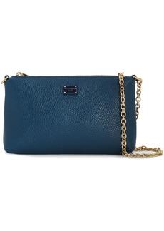 Dolce & Gabbana Woman Pebbled-leather Shoulder Bag Storm Blue