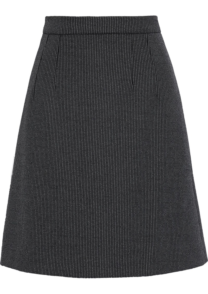 Dolce & Gabbana Woman Pinstriped Wool-blend Mini Skirt Gray
