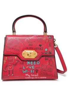 Dolce & Gabbana Woman Printed Leather Tote Crimson