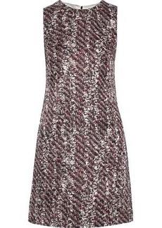 d070ff33 Dolce & Gabbana Woman Printed Silk-blend Jacquard Mini Dress Light Gray