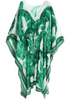 Dolce & Gabbana Woman Printed Silk Crepe De Chine Kaftan Green