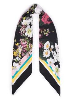 Dolce & Gabbana Woman Printed Silk-satin Twill Scarf Black