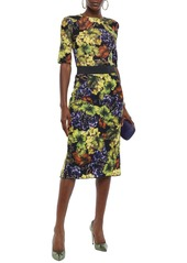 Dolce & Gabbana Woman Printed Stretch-silk Top Lime Green