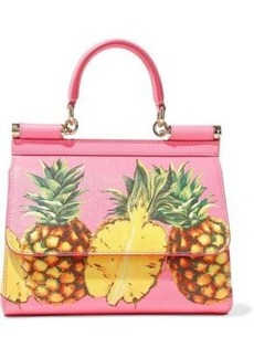 Dolce & Gabbana Woman Printed Textured-leather Shoulder Bag Pink