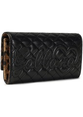Dolce & Gabbana Woman Quilted Leather Continental Wallet Black