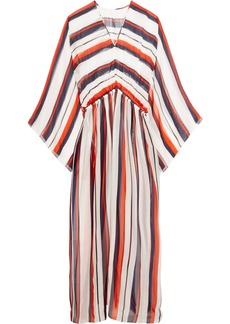 Dolce & Gabbana Woman Striped Silk-chiffon Kaftan Red