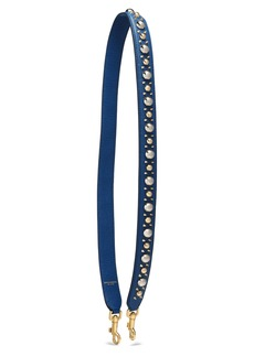 Dolce & Gabbana Woman Studded Textured-leather Bag Strap Navy