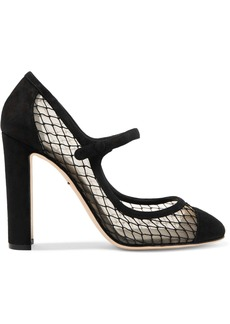 Dolce & Gabbana Woman Suede And Mesh Pumps Black