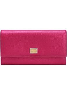 Dolce & Gabbana Woman Textured-leather Continental Wallet Fuchsia