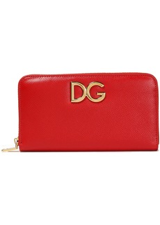 Dolce & Gabbana Woman Textured-leather Continental Wallet Red
