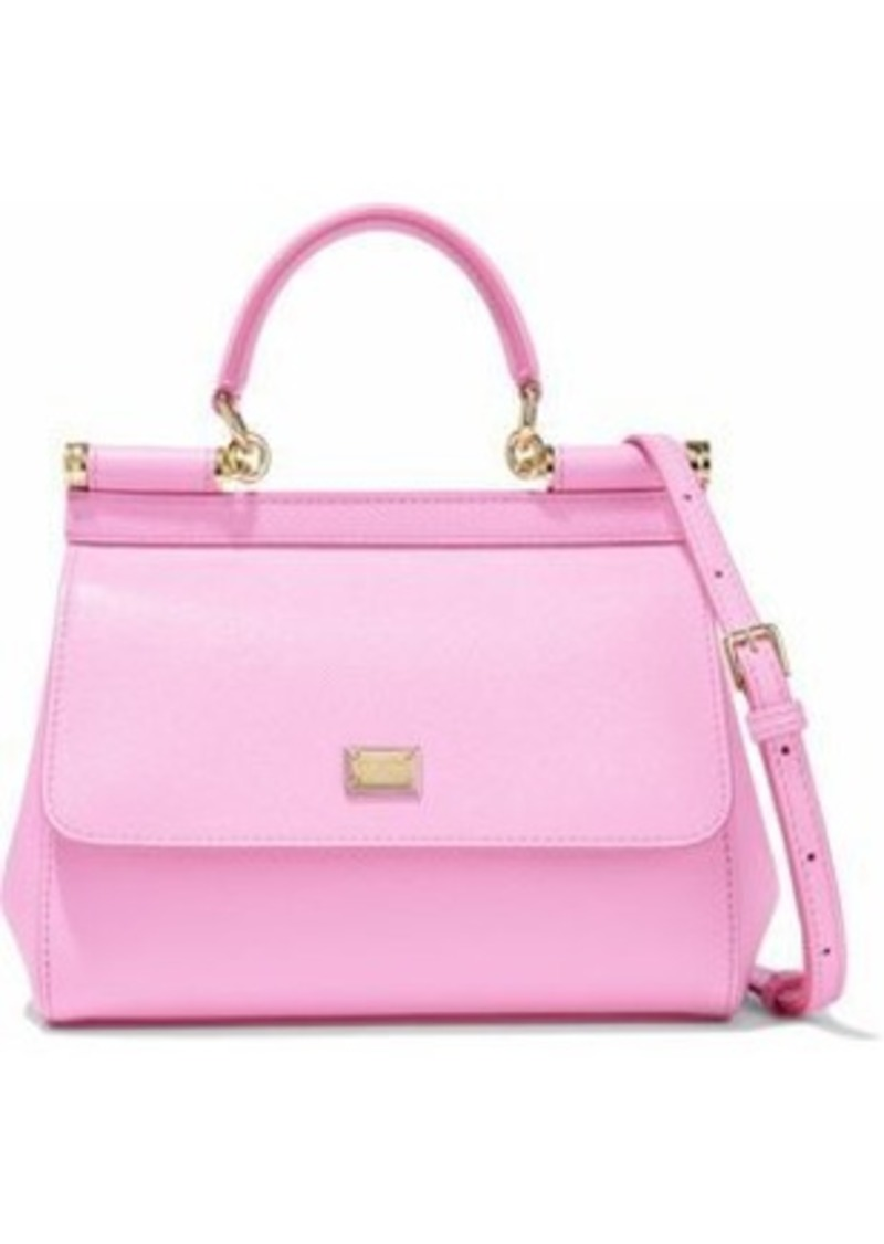 Dolce & Gabbana Woman Textured-leather Shoulder Bag Baby Pink
