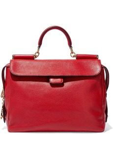 Dolce & Gabbana Woman Textured-leather Tote Red