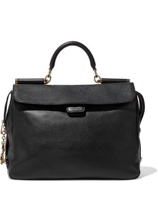Dolce & Gabbana Woman Textured-leather Tote Black