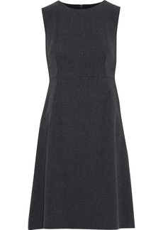 Dolce & Gabbana Woman Wool-blend Canvas Dress Charcoal