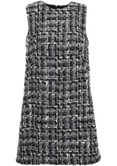 Dolce & Gabbana Woman Wool-blend Tweed Mini Dress Gray