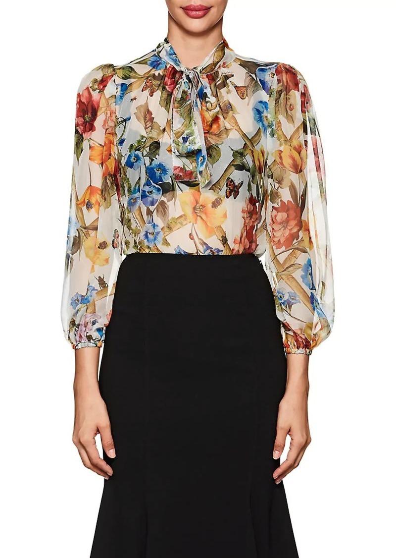 5bdea8ab595133 Dolce & Gabbana Dolce & Gabbana Women's Floral & Bug-Print Silk ...