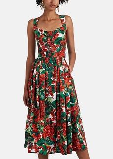Dolce & Gabbana Women's Floral Cotton Midi-Dress