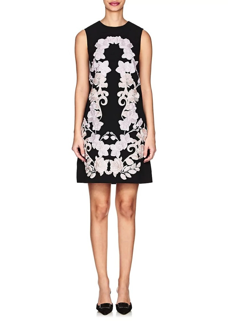Dolce & Gabbana Women's Floral-Embroidered Cady Shift Dress
