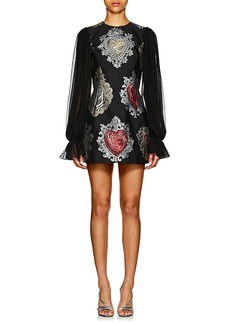 Dolce & Gabbana Women's Heart-Jacquard Long-Sleeve Cocktail Dress