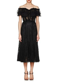 Dolce & Gabbana Women's Lace Off-The-Shoulder Cocktail Dress
