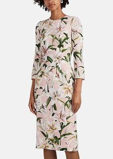 Dolce & Gabbana Women's Lily-Print Crepe Sheath Dress