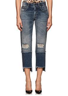 Dolce & Gabbana Women's Logo Distressed Crop Jeans