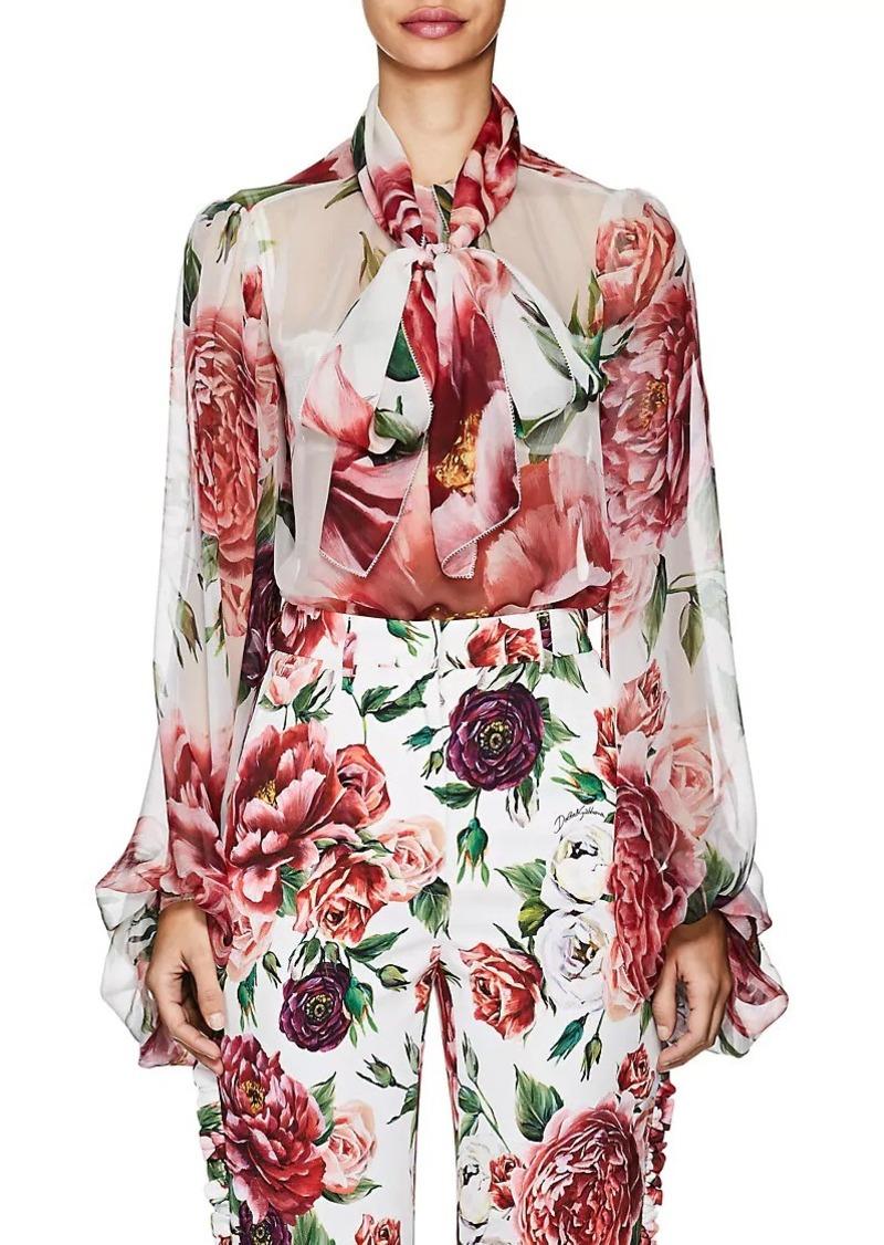 46c45997a0912f Dolce & Gabbana Dolce & Gabbana Women's Peony-Print Silk Chiffon ...