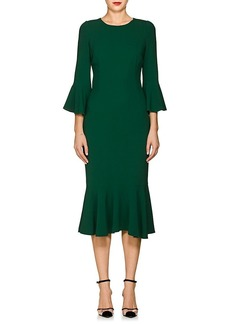 Dolce & Gabbana Women's Flounce-Hem Stretch-Cady Dress