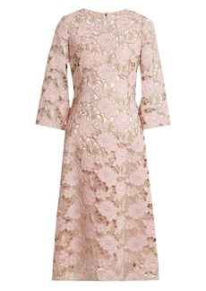 Dolce & Gabbana Wool-blend lace midi dress